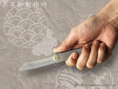 サビに強いV金10号鋼製 肥後守ナイフ