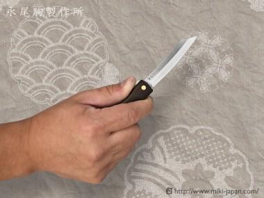 肥後守ナイフ VG10 黒檀(大)