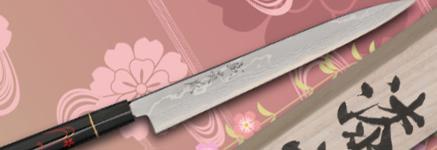 漆霞『花びら』青紙積層鋼包丁 シリーズ