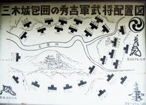 三木城包囲の秀吉軍武将配置